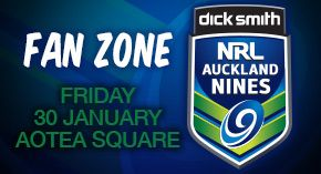 NRL Auckland 9's Fan Zones features all teams and players in NZ Auckland square next friday