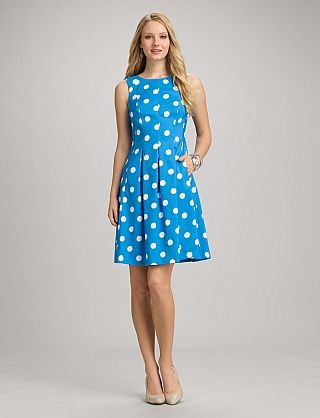 Polka Dot Pocket Dress | Dressbarn