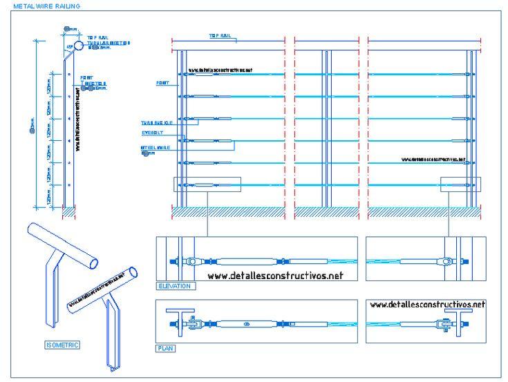 100+ Autocad Cable Railing Detail – yasminroohi