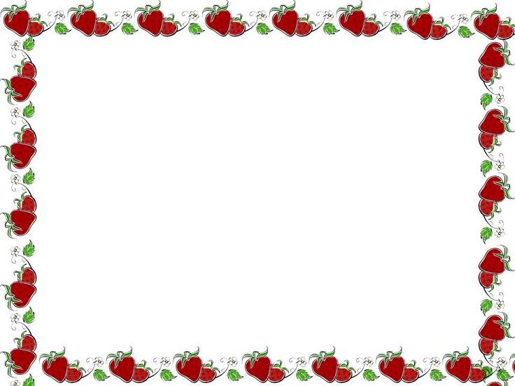 Strawberry Border Clip Art Borders Clip Art Strawberry
