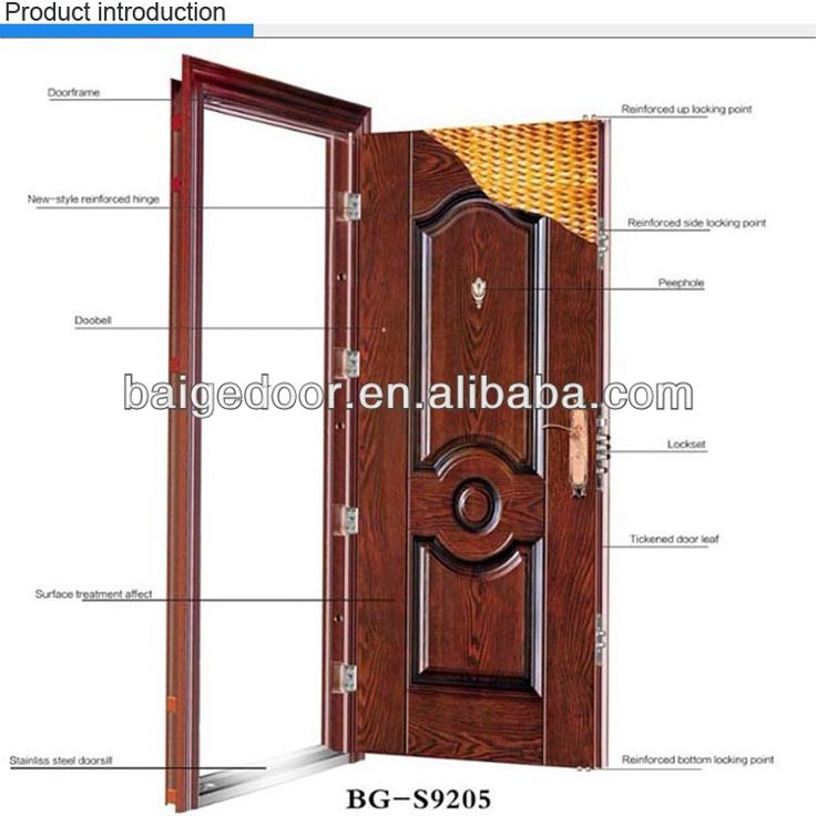 Bg S9001 Nigeria Door Steel Door Iron Exterior Door Price
