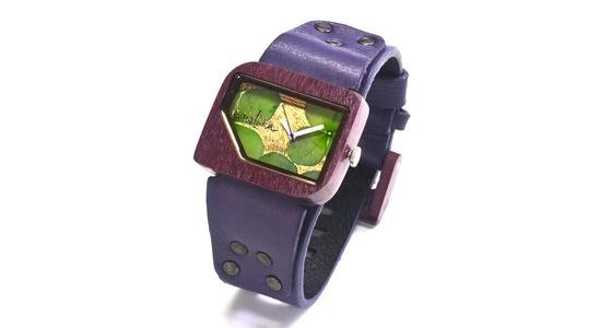 {Santa Elena - Purple + Green} Mistura Watches, en vente chez Dominic Dufour Joaillier, 150 chemin de la Grande-Côte, Rosemère Qc.