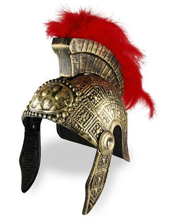 Roman Soldier Helmet with Feather Top | Wholesale Greek/Roman Halloween Costumes