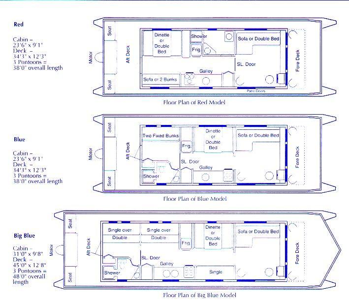 House boat holidays ltd floor plans b tar mm pinterest for Floating house floor plans