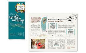Writer's Workshop - Tri Fold Brochure Sample Template