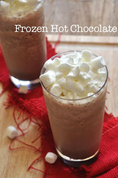 Homemade Frozen Hot Chocolate with 200 calories less than Serendipity!
