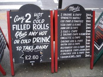 Gino's cafe, across from Marylebone Station