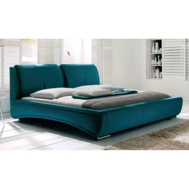 diamond sofa sydney queen bed in teal fabric dia1673 - Queen Beds For Sale