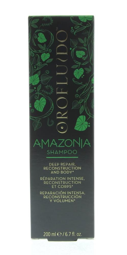 Orofluido Amazonia Shampoo Verzwakt/Beschadigd Haar 200ml  Description: Orofluido Amazonia Shampoo.Een luchtige formule die helpt om het haar natuurlijk volume te geven terwijl het voorzichtig wordt gewassen. Het haar wordt zacht en soepel. Deze shampoo heeft een zeer aangename parfum van exotische bessen verfijnd met kruidige bestandsdelen zoals amazonehout muskus en zoete noten.Gebruil: Breng de shampoo aan op nat haar masseer deze zachtjes in op de hoofdhuid. Spoel de shampoo goed uit…