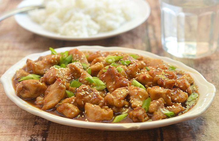 Sesame chicken with no thick breading or deep-frying for fewer calories and less fat. It comes out moist, flavorful and far delicious than what you'll find in restaurants.
