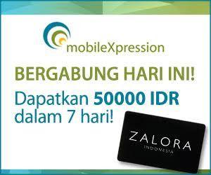 Gratis Voucher Zalora 50k dengan menginstall aplikasi android / ios MobileXpression | SurveiDibayar.com