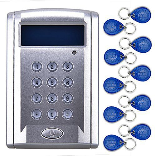 GGS RFID Reader Entry Door Lock Access Control Keypad System + 10 ID Cards Key Sliver AD-268