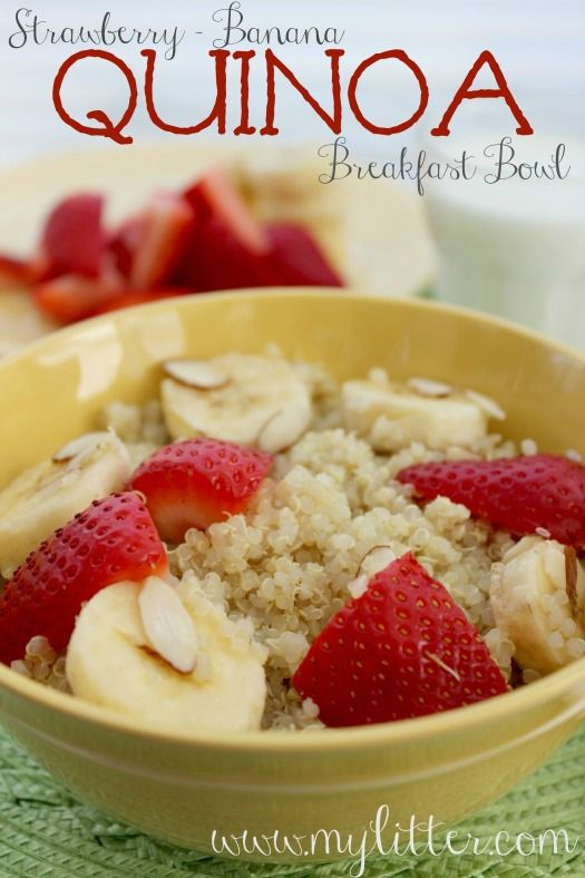 Quinoa Breakfast Bowl | Healthy food that LOOKS delish! | Pinterest