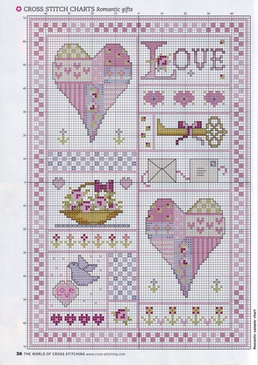 Purple Love Sampler, Part 1  Gallery.ru / Фото #16 - The world of cross stitching 121 - tymannost