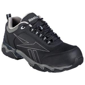6143358415ecc ... Reebok Beamer Safety Composite Toe Work Shoes for Men - Black - 12EE ...