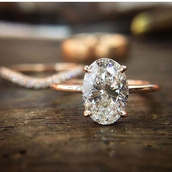 Oval Diamond // The 17 Best Wedding and Engagement Rings to Mix and Stack to Your Heart's Desire