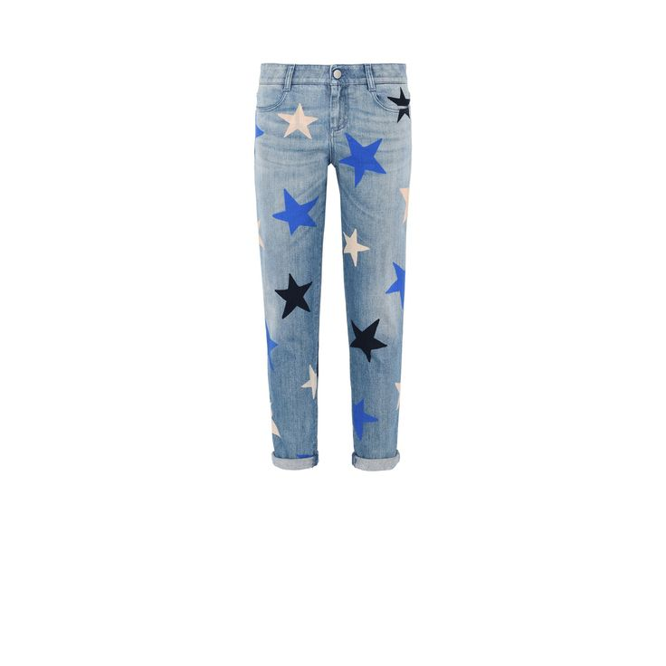Shop the Skinny Ankle Grazer Multicolor Star Jeans by Stella Mccartney at the official online store. Discover all product information.