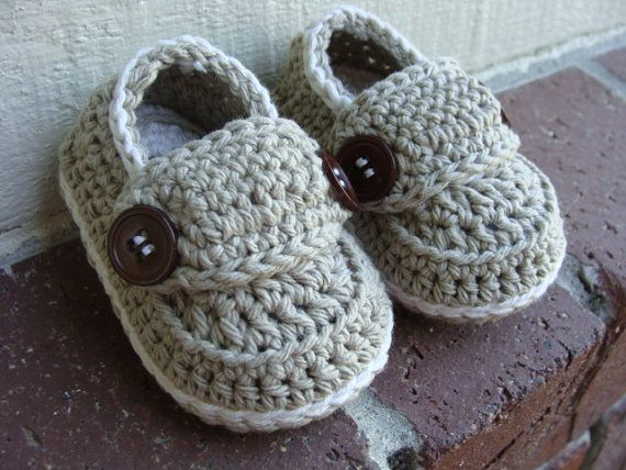 Crochet baby boy booties loafers shoes Made To Order