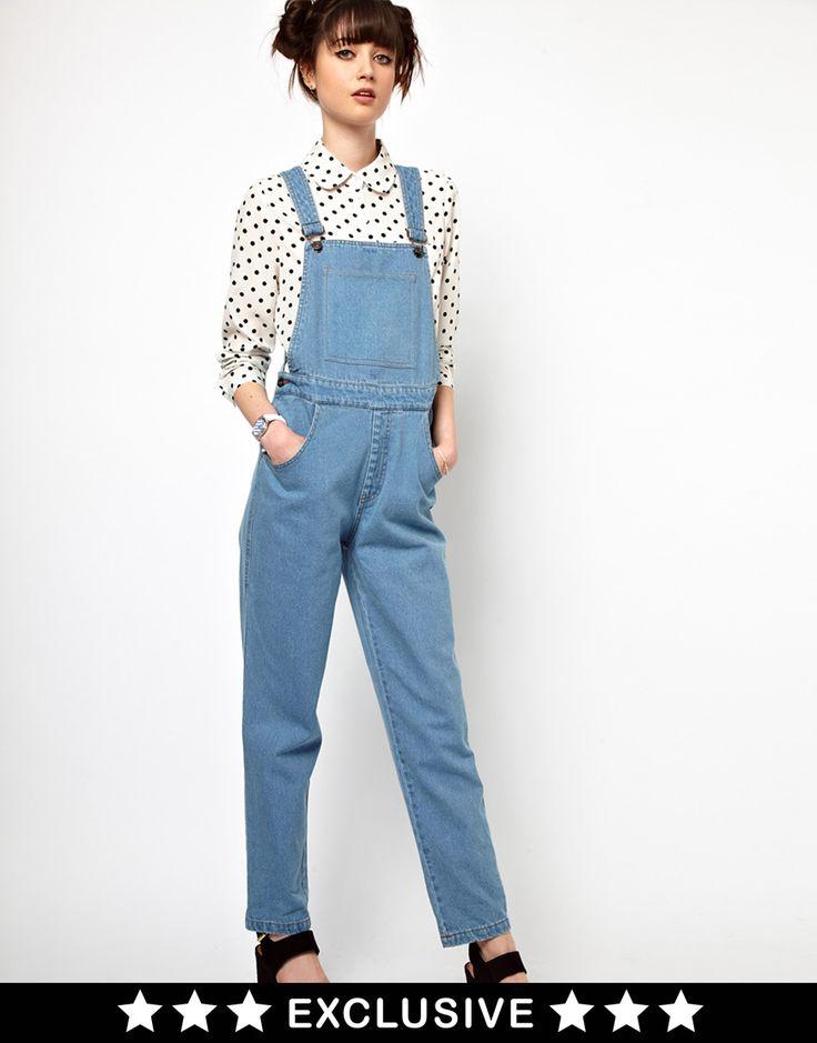 The WhitePepper - Salopette en jean - Bleu délavév