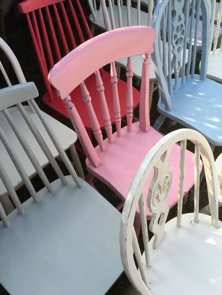 FREE uK SHiPPING - CuSTOM Painted MIX n MATCH CHAiRS // Painted Wooden Furniture // Painted Kitchen Dining Chairs // Shabby Frenchic Chairs (64.00 GBP) by AnthiLeoniDecor