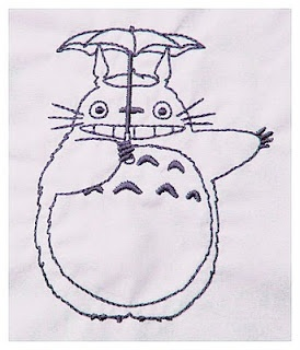 Great. Scott. It's Totoro! FREE.   Designed for machine embroidery not hand stitch.