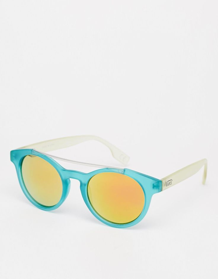 Vans+Round+Sunglasses+with+Mirrored+Lenses