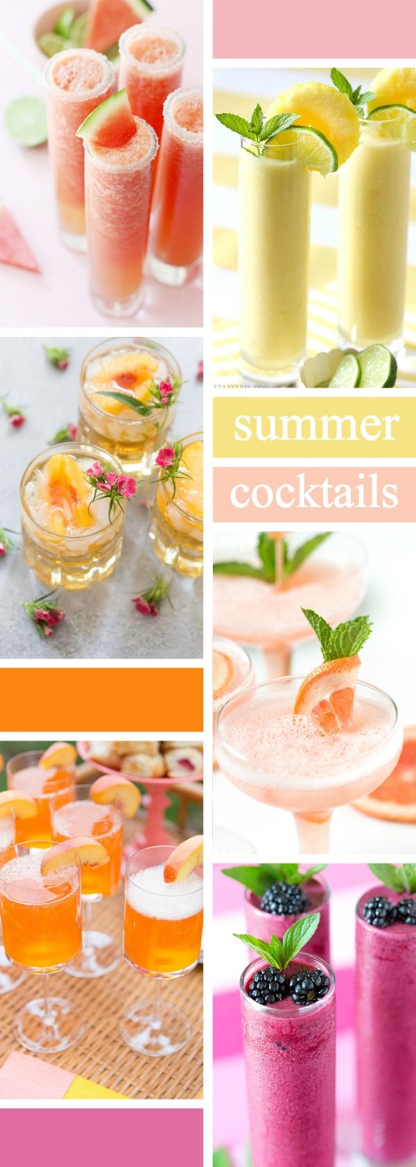 The best summer cocktails to beat the heat! Perfect drinks for parties!