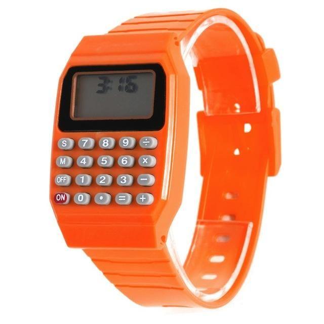 2017 Kids Calculator Watch LED Digital Watch Children Sports Wrist Watch relogio reloj calculadora hesap makinesi saat