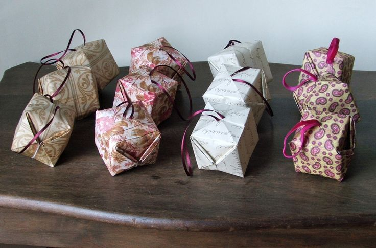 Origami bauble decorations