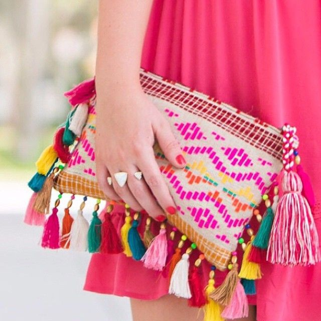 Make your clutch count with @fancythingsblog's #LTKunder100 multi-colored tasseled statement bag | Get ready-to-shop details with www.LIKEtoKNOW.it | www.liketk.it/1uUyB #liketkit