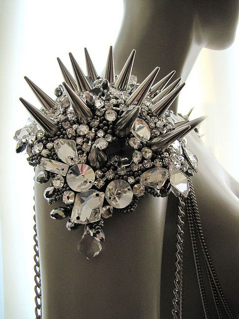 Punk - Glam - Fashion - Spikes - Black and White - Photography