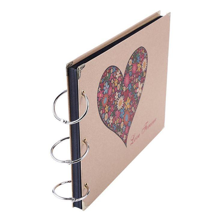"""Álbum de Fotos,10 """"30 Hojas del libro de recuerdos del regalo de cumpleaños de bricolaje Album de fotos de la boda familia de los niños memoria de registros (Amar por siempre): Amazon.es: Hogar"""