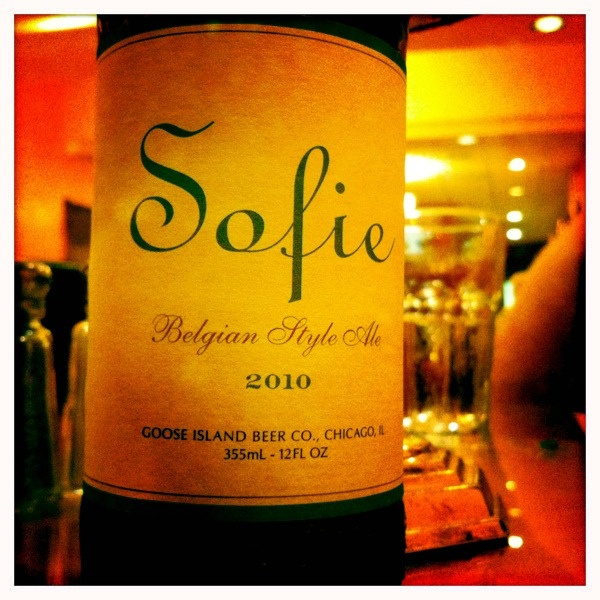Goose Island Sofie: my new favorite beer