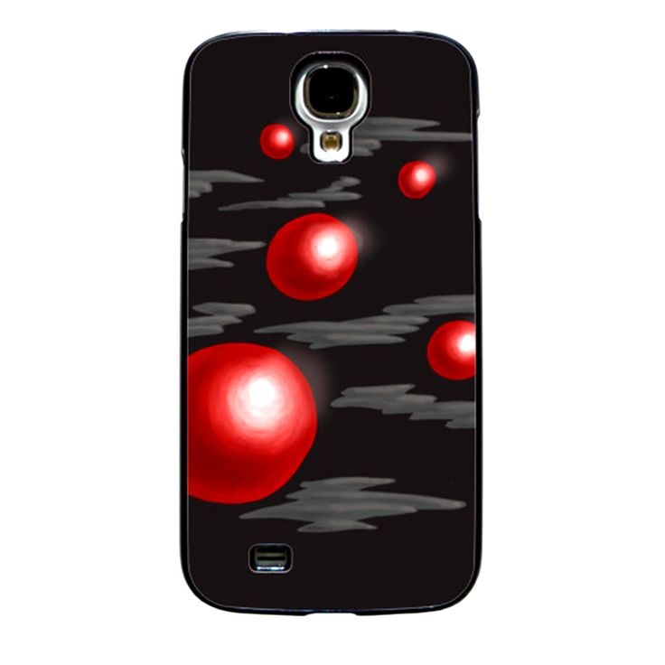 Shiny Red Abstract Planets Cell Phone Case  BallzBeatz . com