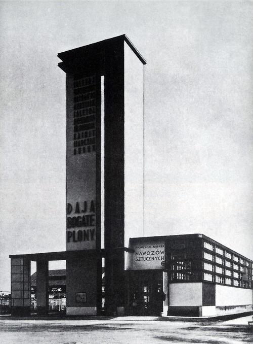 szymon syrkus - fertlizer pavilion, national exhibition, poznań, 1929