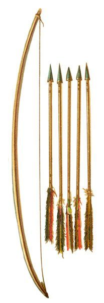 Past: Native American Bow and Arrows (Richard Irving Dodge, 1883)