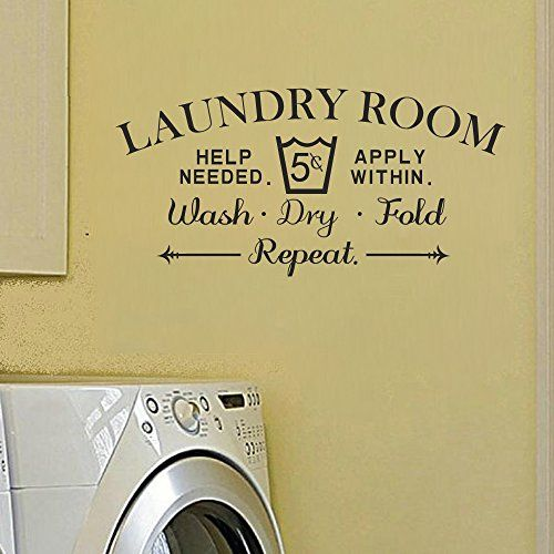 Laundry Room Decal Vinyl Wall Sticker