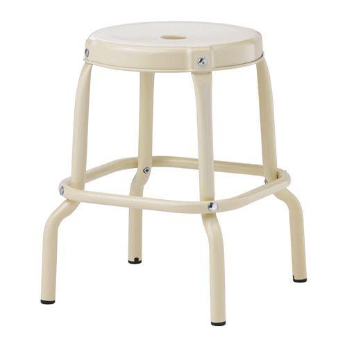 IKEA - RÅSKOG, Hocker, Kunststoffkappen schützen die Möbelfüße bei Kontakt mit feuchten Oberflächen.