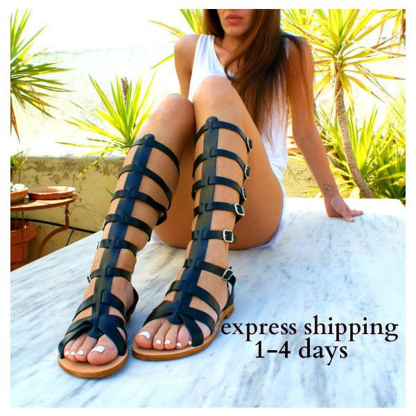 Ares 2 Leather Gladiator Sandals Ancient Greek Sandals Lace Up Sandals... (€73) via Polyvore featuring shoes, sandals, gladiator & strappy sandals, gold, women's shoes, gladiator sandal, long gladiator sandals, leather strap sandals, summer sandals and leather sandals