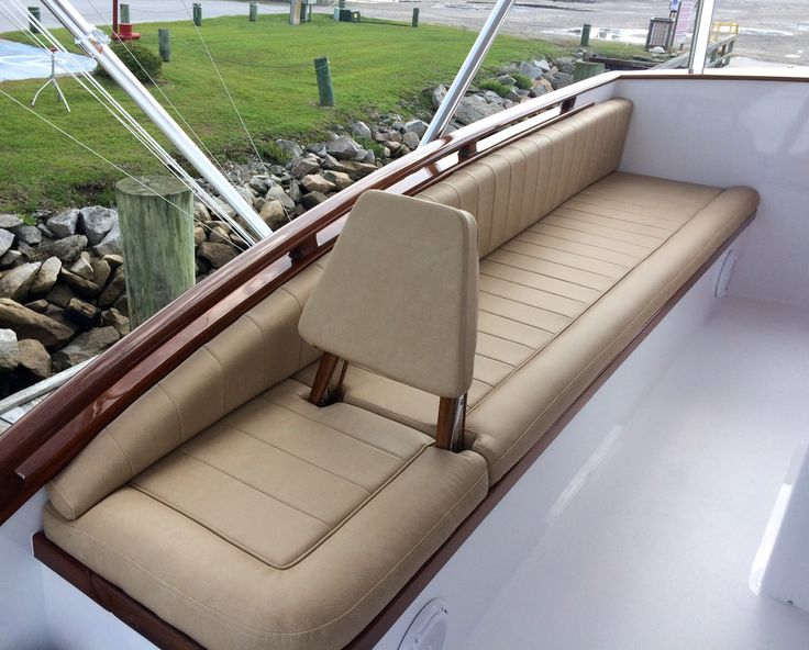 Blue Mile, A Rybovich Boat Bridge With Custom Upholstered Jump Seat And  Custom Cushions In