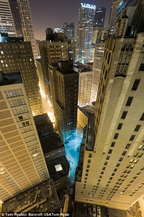 I think this is looking towards the Tribune building in Chicago.  #Rooftopping