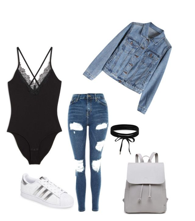 """Untitled #216"" by rekac on Polyvore featuring Monki, Topshop, adidas and Boohoo"
