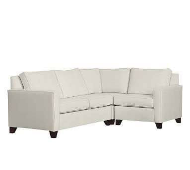 Cameron Square Arm Upholstered Left Arm 3-Piece Corner Sectional Polyester Wrapped Cushions. Pottery Barn3 ...  sc 1 st  Pinterest : pottery barn cameron sectional - Sectionals, Sofas & Couches