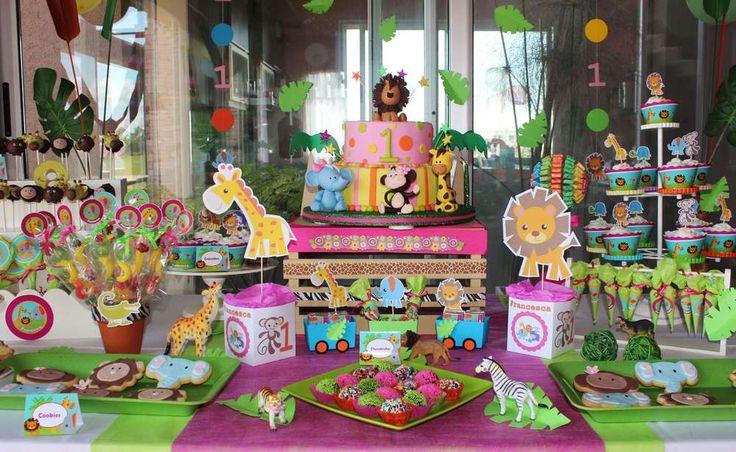 Baby Jungle Animals Birthday Party Ideas | Photo 11 of 11