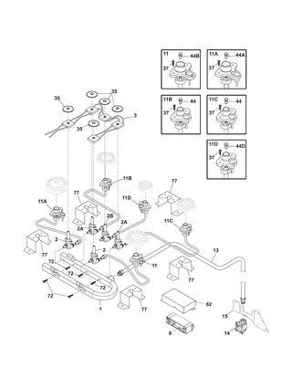 Shop for KENMORE ELITE RANGE repair parts for model