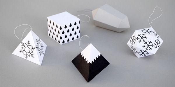 Come creare decorazioni geometriche natalizie con la carta - Creare decorazioni natalizie ...