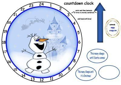 Christmas snowman advent clock on Craftsuprint - Add To Basket!
