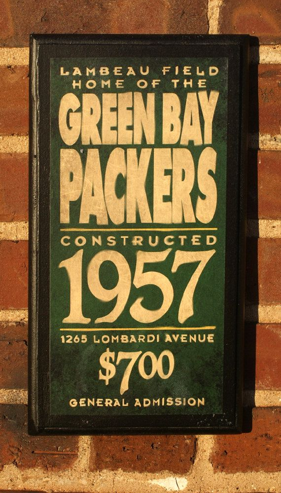 Green Bay Packers Vintage Style Wall Plaque by CrestField on Etsy, $28.00