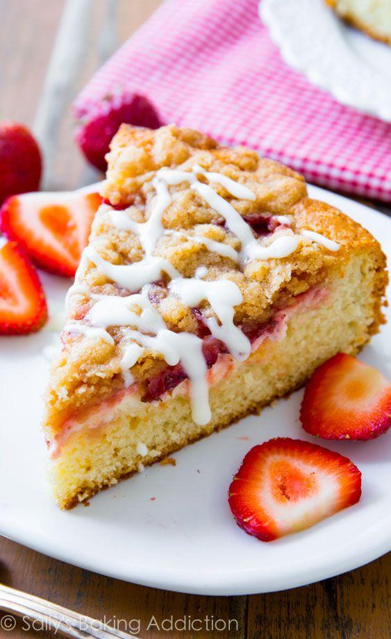 Strawberries 'n Cream Crumb Cake.