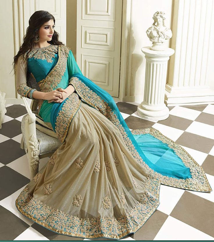 Heavy Bordered And Worked Saree